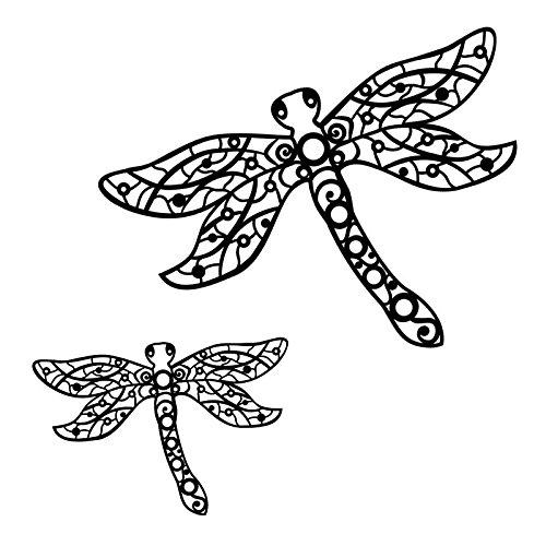 Silhouetten-Laser-Schablone   Kreative Wandgestaltung, Textilien, Papier, Scrapbooking (Libellen - 2 Stück - 28 & 17 cm)
