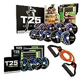 Life Element Shaun T's T25 HIIT brûlant les graisses Programme de fitness DVD 14 pcs avec bandes de résistance et guide nutritionnel cardio entraînement en intérieur (comme vu à la télévision)