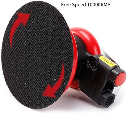 Pneumatic Random Orbit Sander Air Tool Air Powered,Palm Sander,Air Sander DA 5 Inch for Auto body Automotive,Wood Working