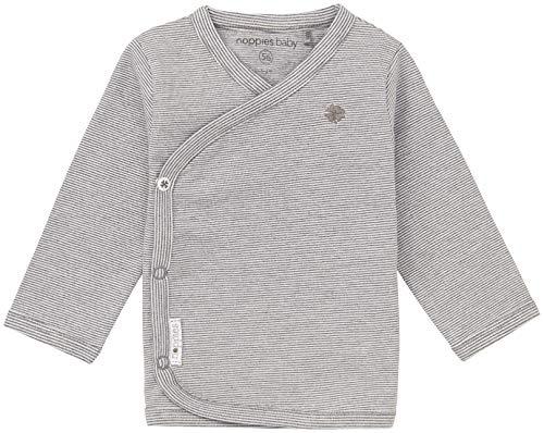 Noppies Unisex - Baby T-Shirt U Tee Ls Soly Yd, Einfarbig, Gr. Neugeborene (Herstellergröße: 56), Grau (Anthracite Melange)