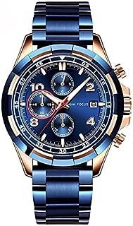 MINIFOCUS Men's Chronograph Watches Date Business Quartz Watch Men Top Brand Luxury Stainless Steel Sport Wrist Watch Male...