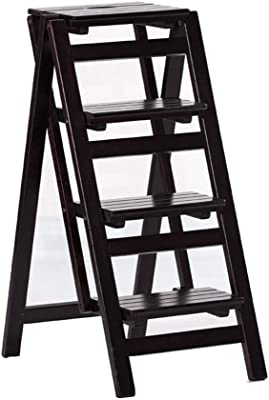 QQXX Escalera Plegable Silla Escalera Climb Kitchen Taburete de 4 peldaños Estante Superficie Lisa Espesar Madera, 4 Colores (Color: C, Tamaño: 42x68x92cm): Amazon.es: Hogar