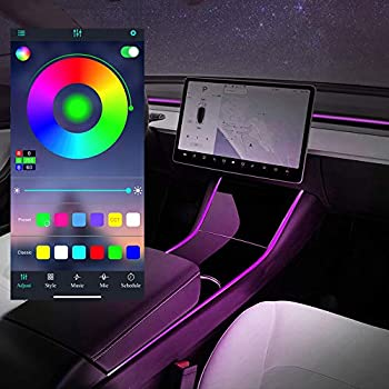 Tesla Model 3 Model Y Tubes RGB Interior Neon LED Strip Lights