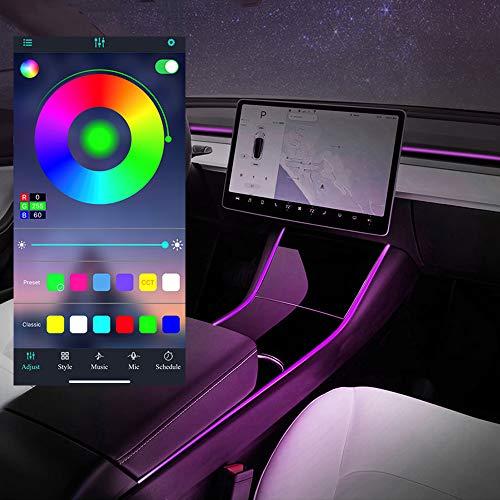 Model 3 Model Y Neonröhren RGB Innen LED Streifenleuchten mit App Controller