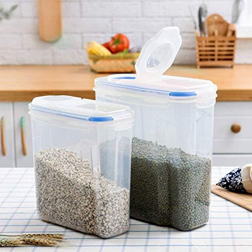Cereales Almacenaje Contenedores, Hermético Conservación Alimentos Grande de Cocina Keeper con Escala...