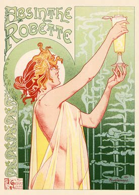 Ford Absinthe Robette Poster by Henri Privat-Livemont, 1896