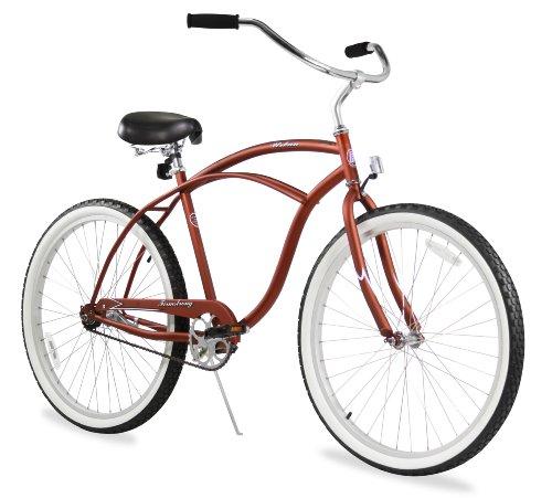 Firmstrong Urban Man Three Speed Beach Cruiser Bicycle, 26-Inch, Orange