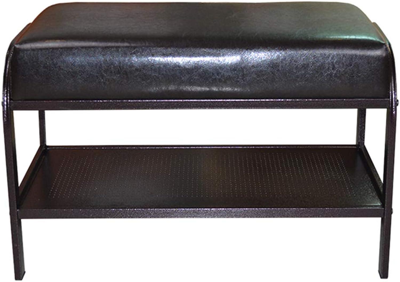 JIANFEI Footstool shoes Shelf Rack PU Cushion Iron Frame Multi-Layer Shelves, 2 Styles,2 Colours (color   A)