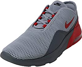 Nike Mens Air Max Motion 2 Running Shoes (10), Wolf Grey/University Red