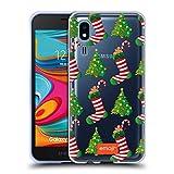 Head Case Designs Licenciado Oficialmente Emoji® Medias para árbol de Navidad País de Las Maravillas de Invierno Carcasa de Gel de Silicona Compatible con Samsung Galaxy A2 Core (2019)