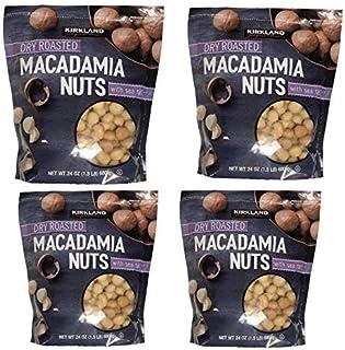 Kirkland Signature Dry Roasted Macadamia Nuts With Sea Salt - Pack of 4