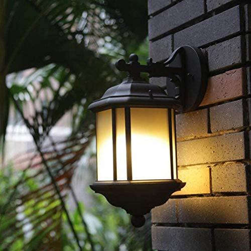 ZAMAX Lámparas de Pared industriales, Lámpara de Pared Simple Square LED Impermeable Balcón Patio Corredor Negro Al Aire Libre Pared Luces de Pared, Negro, 21x17x37cm Lámparas de Pared