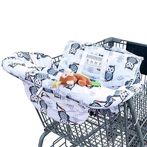 Somedays Baby Einkaufswagen Abdeckung Universal Kleinkind Hochstuhl Und Warenkorb Kissen Mit Tragetasche, Waschbar Kinderwagen Weicher Organisatoren, Kindersicherheit