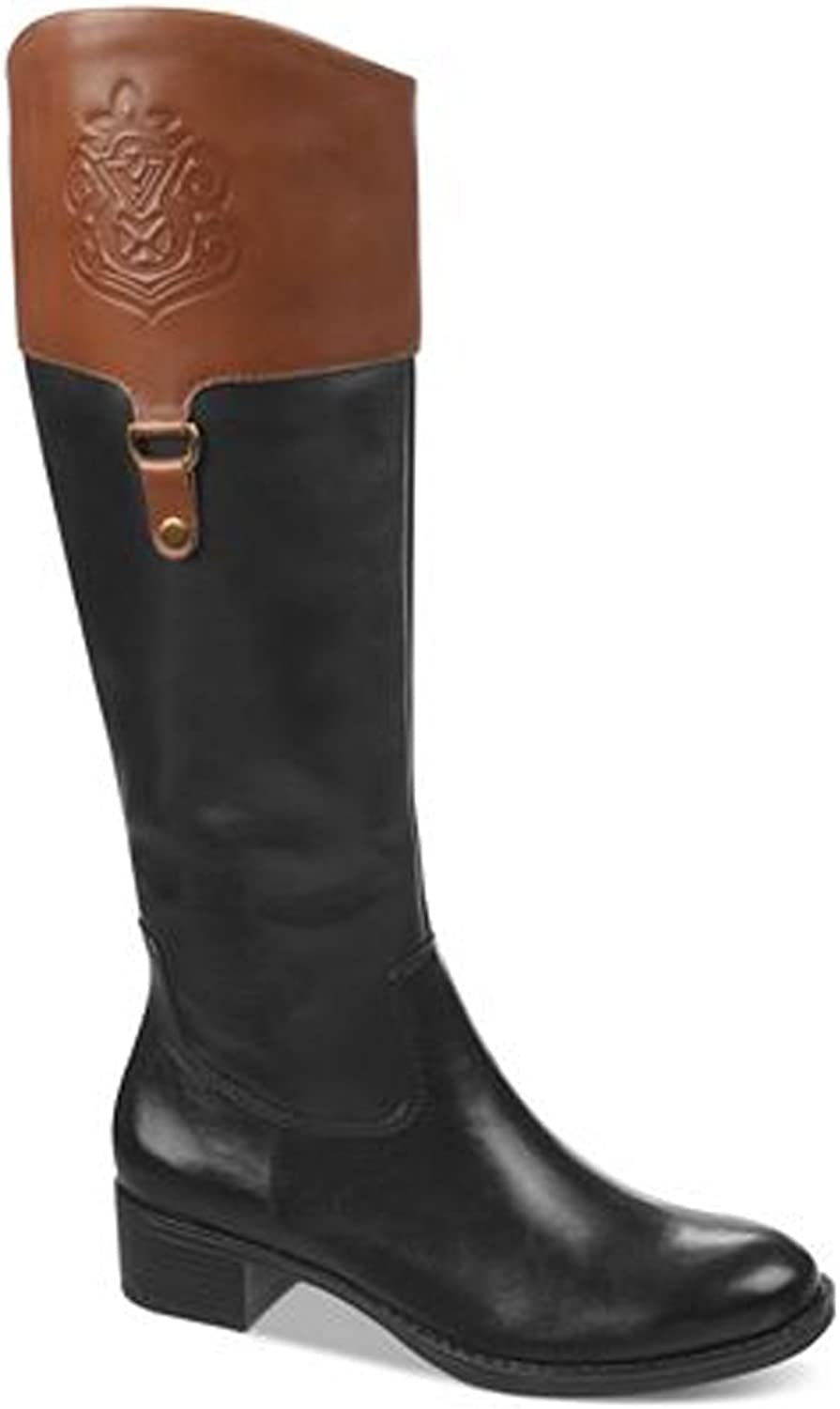 Franco Sarto Womens Clarity Wide Calf Leather Riding Boots