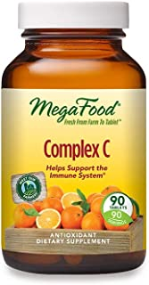 MegaFood, Complex C, Supports a Healthy Immune System, Antioxidant Vitamin C Supplement, Vegan, 90 tablets (90 servings)