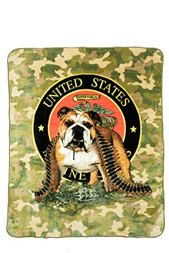 K2 Signature Collection Marines TNT Camouflage Queen Mink Style Blanket