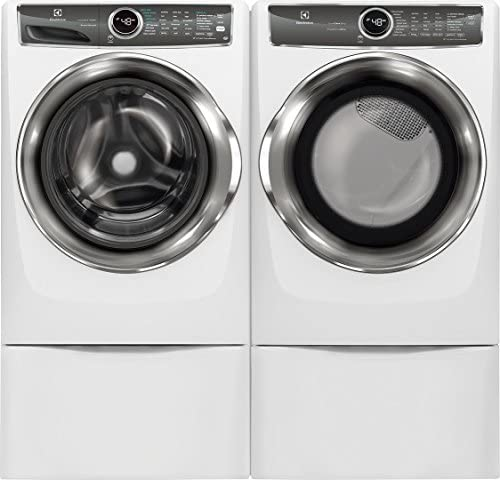 Electrolux Side by Side Front Load Laundry Pair with EFLW427UIW 27 Washer EFME627UIW 27 Electric product image