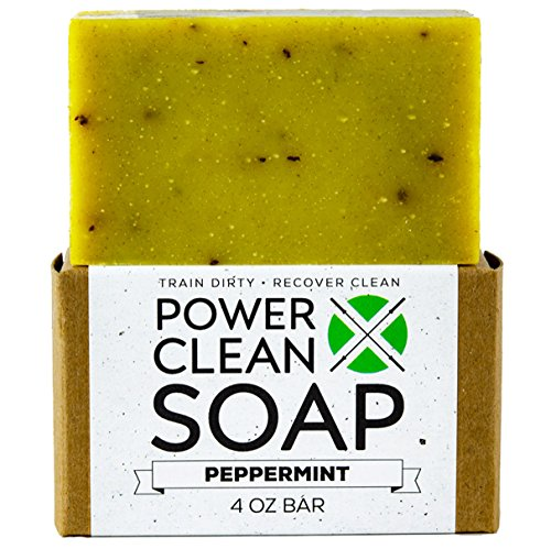 Organic Peppermint Essential Oil Soap 4oz Bar for...