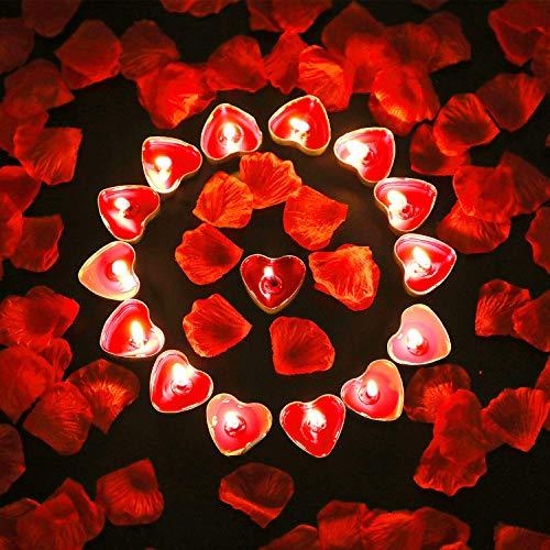 candele profumate rosse Bdecoll Romantico di San Valentino