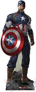 Star Cutouts Official Marvel Avengers Movie Lifesize Cardboard Cut Out of Captain America / Steve Rogers (Chris Evans) 190cm Tall 71cm Wide