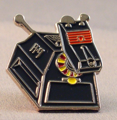 Mainly Metal Metall Emaille Pin Badge Doctor Dr. Who polizeidiensthund (K9) Roboter Hund