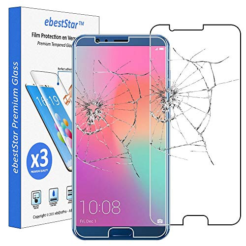 ebestStar - [Lote x3 Cristal Templado Compatible con Huawei Honor View 10...