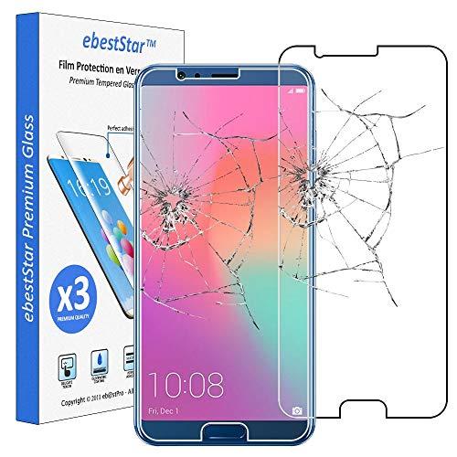 ebestStar - [Pacco x3 Vetro Temperato Compatibile con Huawei Honor View 10 Protezione Schermo Pacco da 3 Pellicole Anti Shock, Anti Rottura, Anti graffio [Apparecchio: 157 x 75 x 7mm, 5.99'']