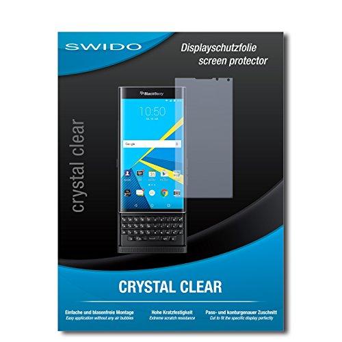 SWIDO Bildschirmschutz für BlackBerry Priv [4 Stück] Kristall-Klar, Hoher Festigkeitgrad, Schutz vor Öl, Staub & Kratzer/Schutzfolie, Bildschirmschutzfolie, Panzerglas Folie