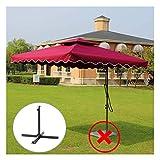 WenFei shop Parasol Cantilever Umbrella,2.2m Sun Shade Patio Garden Outdoor Canopy Sun Protection Garden Umbrella Double Top Offset Hanging Umbrella,with Cross Base