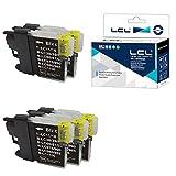 LCL Cartucho de Tinta Compatible LC985 LC985BK (5Negro) Reemplazo para Brother DCP-J125 J315W J515W J140W MFC-J265W J410 J415W J220