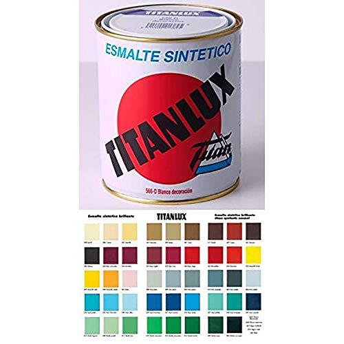 Titan Decor 001052834 - Esmalte Sintético, Marfíl 528 , 750 ml