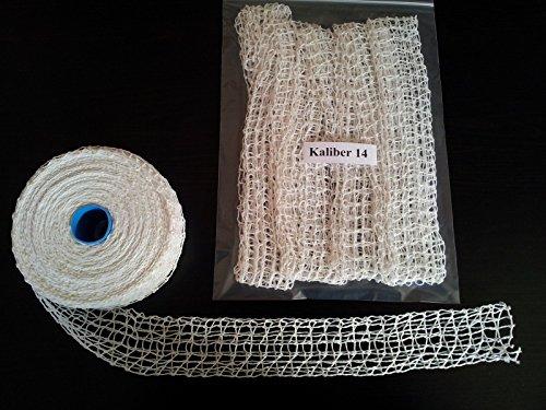 10m Kaliber 14 Bratennetz / Rollbratennetz / Räuchernetz für Einfüllrohr mit einem Durchmesser von Max. 100 mm