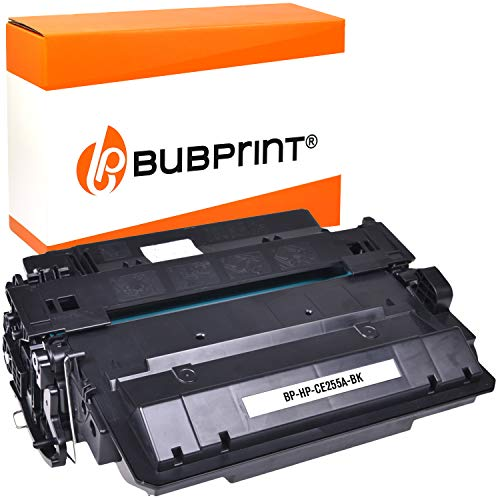 Bubprint Toner kompatibel für HP 55A CE255A für Laserjet P3010 P3011 P3015 P3015DN P3015N P3015X Pro MFP M521dn M521dw Enterprise 500 MFP M525 M525dn M525c Schwarz