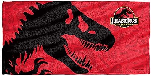 NICHIYOBI Jurassic World - Toalla de playa 3D, diseño moderno, suave y resistente a la luz (2,150 x 200 cm)