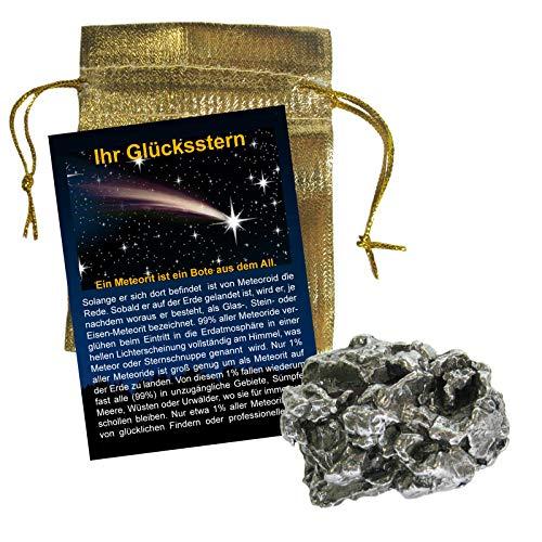 Meteorit XL ca. 120-140g Campo del Cielo Eisenmeteorit Sternschnuppe (4-5cm) Gelegenheit für Sammler & Anleger mit Zertifikat + Booklet IHR GLÜCKSSTERN. 81805-2