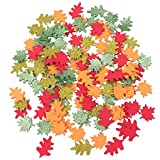 Supvox 300pcs pasteles hojas de arce autoadhesivas brillantes reverso no tejido eva artesanía hecha a mano pegatinas para niños niños (color surtido)