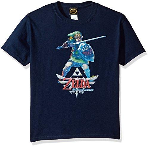 Nintendo Little Boys Zelda Skyward Link Graphic T-shirt, Navy, YM