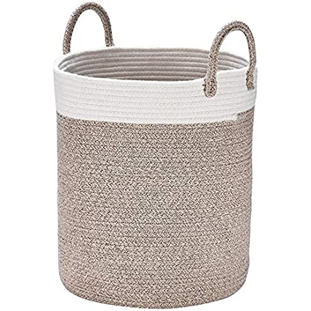 for Toys Blanket Blankets in Living Room Baby Nursery 14x14x18 Extra Large Square Rectangular Storage Basket Toy Storage Bin Woven Laundry Hamper Cotton Rope Storage Baskets Blue//Deep Blue