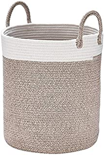 LA JOLIE MUSE Woven Basket Rope Storage Baskets – Large Cotton Organizer 16 x 14 x..