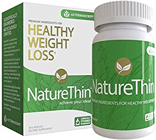 NatureThin Appetite Suppressing Weight Loss Supplement with Slimvance, As Seen on Netflix, 1-Pack (30 Ct)