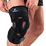 Hinged Knee Brace,GEL Patella Support with Removable Dual Side Stabilizers,Knee Support for Meniscus Tear,Relieves ACL,Arthritis ( XL )