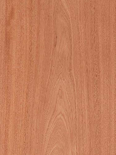 "Mahogany Veneer Plain Sliced Wood on Wood Backer 4' X 10' (48"" x 120"")"