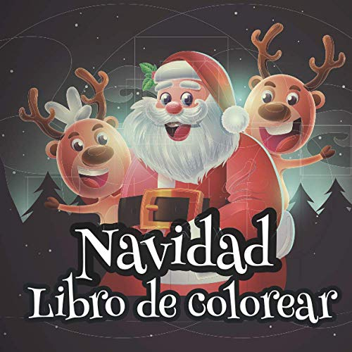 Navidad Libro de colorear: 🎅 60 dibujos para colorear para niños de 3 a 8 años 🎅