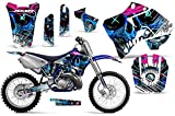 Savage Kits MX Dirt Bike Graphics kit Sticker Decal Compatible with Yamaha YZ 125/250 1996-2001 - Frenzy Blue