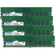 Timetec Hynix IC 64GB KIT (4x16GB) DDR4 2666MHz PC4-21300 Unbuffered ECC 1.2V CL19 2Rx8 Dual Rank 288 Pin UDIMM Server Memory RAM Module Upgrade (64GB KIT (4x16GB))