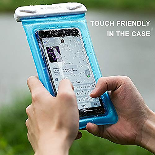Floatable Waterproof Phone Pouch, Cambond Floating Water Proof Cell Phone Case Both Sides Clear Dry Bag for iPhone 12 Pro Max/XR/8/7 Galaxy Pixel Up to 6.5