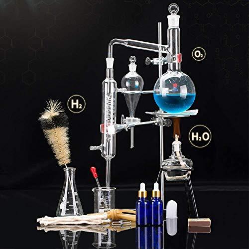 24 pcs Nuovo 500ml Laboratorio Distillazione Olio Essenziale Apparecchio Distillatore Acqua Depuratore Kit di Cristalli w//Condensatore Tubo Boccetta Set Completo