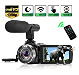 Camcorder Digital Video Camera, WiFi Vlog Camera Camcorder...
