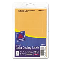 Avery 05477 Print or Write Removable Color-Coding Laser Labels- 1 x 3- Neon Orange- 200/Pack [並行輸入品]