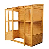 WALTONS EST. 1878 6x3 Wooden Garden Victorian Growhouse Greenhouse, Shiplap Construction, Dip Treated with 10 Year Guarantee, Includes Pent Roof, Double Door, Styrene Windows (6 x 3 / 6Ft x 3Ft) 3-5 Day Delivery